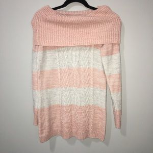 Chunky Knit Pink Sweater 100% RECYCLED BOTTLES
